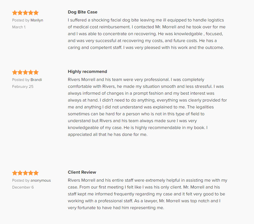 Client Reviews Recommendations